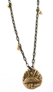 Rise Up! necklace Jewelry made from recycled silver and brass