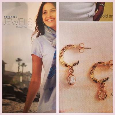 We are so excited to have our gold and rose gold Whisper Hoops featured in the @arhausjewels Mother's Day 2014 catalog! We love this catalog!! #showthelovejewelry #whisperhoops #earrings #Arhausjewels #jewelry