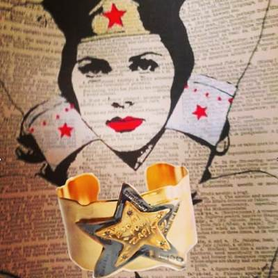 Wonder Woman Cuff #wonderwoman #cuff #inspirational #jewelry #showthelovejewelry #style #takethatcuff #wonderwomancuff http://67.227.161.210/~artist/shop/take-that-wonder-woman-cuff/