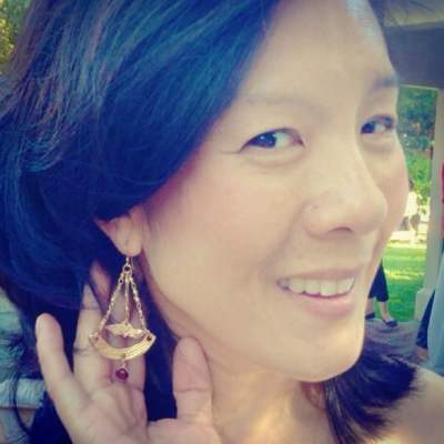 Jen's good friend and STL fan Aileen Lee showing off our Over the Rainbow earrings #showthelovejewelry #overtherainbow