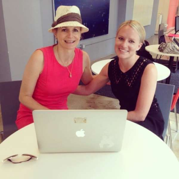 Jen catching up with our Director of Production, Molly, in NYC today! Jen is wearing our gold Imperfection is Beauty necklace that can be found on our website.