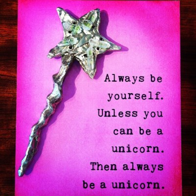 Poof! Jens Magic Wand sending everyone some fun words to live by! #showthelovejewelry #unicorns #beyourself