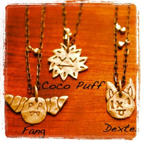 Get ready for Halloween with these cute as can be 'Little Monster Protector necklaces' made to fend off bad spirits! #halloween #october #cutemonster #showthelovejewelry