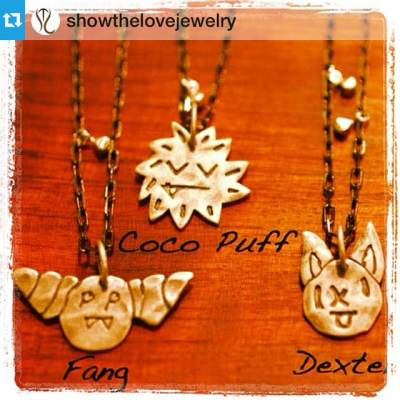 We're partial to Coco Puff, what about you? Find them on our app! #orangeharp #regram #orangeoctober #halloweenjewelry — Get ready for Halloween with these cute as can be 'Little Monster Protector necklaces' made to fend off bad spirits! #halloween #october #cutemonster #showthelovejewelry