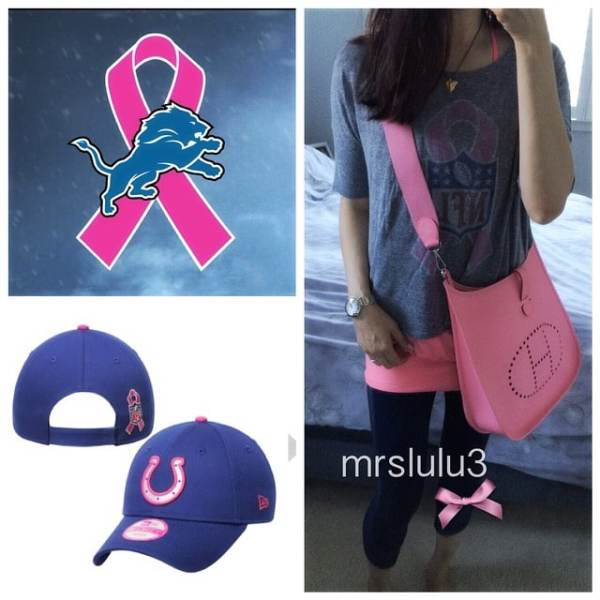 I  watching @nfl games and especially during the month of October with all the players sporting their #breastcancerawareness #gear... I have some of my own and love what I see on nflshop.com Even though the colts are not my team, I know some of you would love this horseshoe stamped hat! And it has pink! Check it out! #mrslulu3thinkpinkmonth
