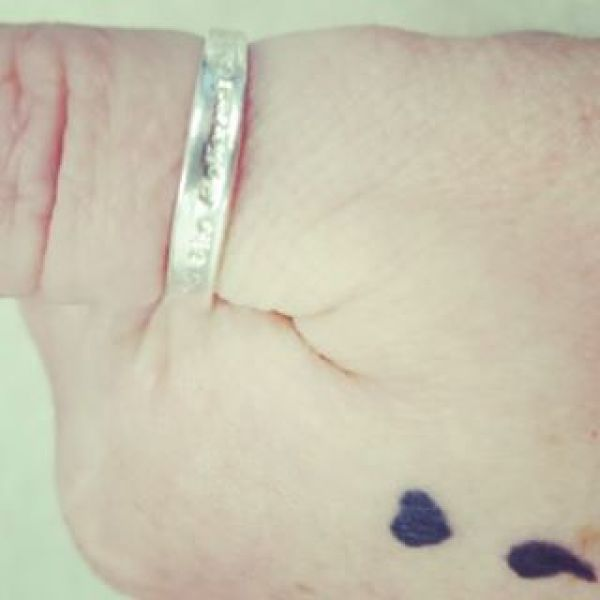Love this photo of someone wearing our #shebelievedshecould ring on their thumb with a #projectsemicolon #tattoo bringing awareness to #mentalhealth
