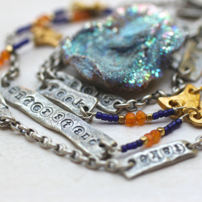 Rise Up Mantra Necklace