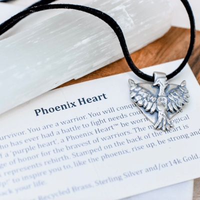 Phoenix Heart Silk Necklace