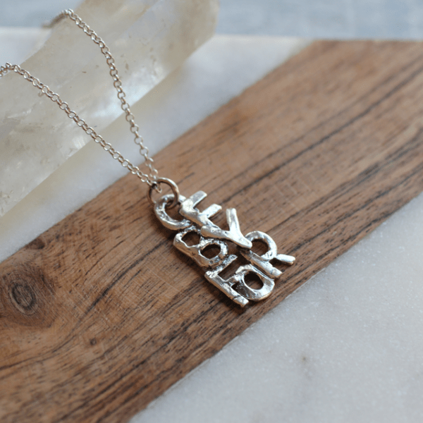 OfByFor Silver Necklace