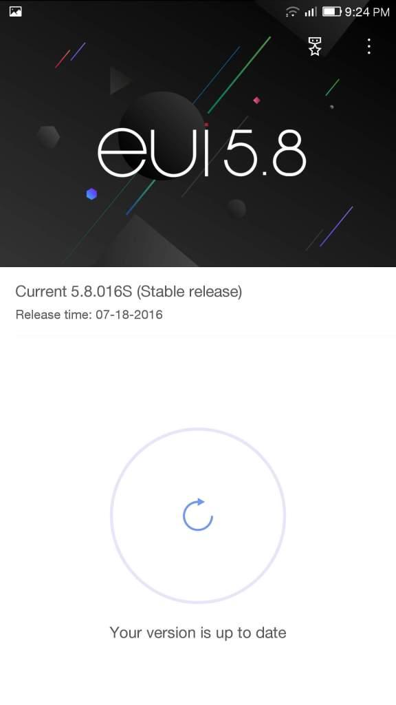 Leeco Max 2 X829 Statele Unite ale Americii Versiunea ROM original 5.8.016S Descărcare, Corecții lipsă Software Update