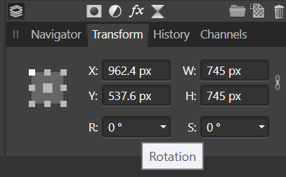 Affinity Photo Custom Rotation