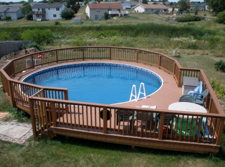 Uniquely Awesome Above Ground Pools With Decks - Backyard above ground pool ideas