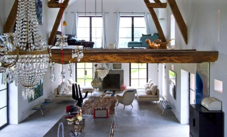 french barn home upstairs