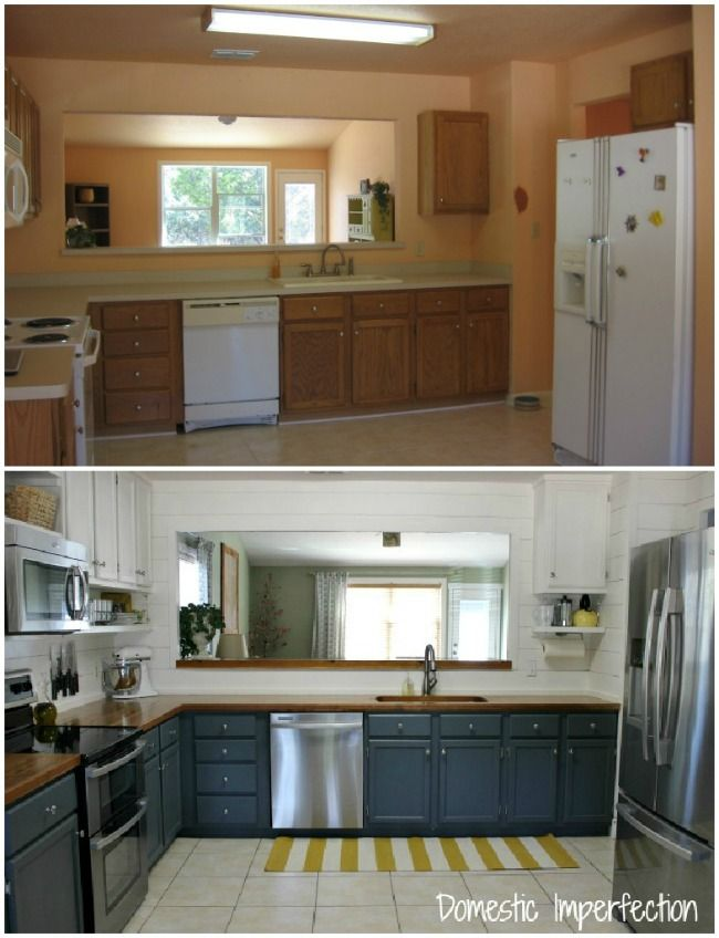Budget kitchen remodel from Domestic Imperfection