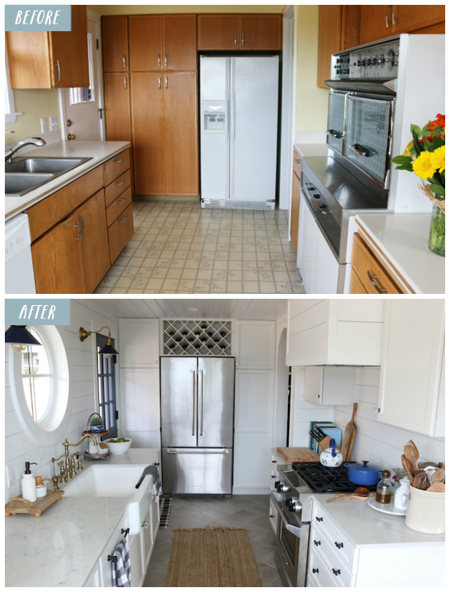 20+ Small Kitchen Renovations Before and After - DIY ... on Small Kitchen Remodel  id=50149