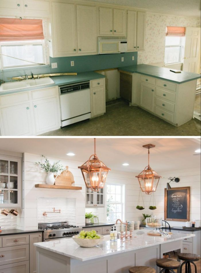 20+ Small Kitchen Renovations Before and After - DIY ... on Small Kitchen Renovation  id=48408