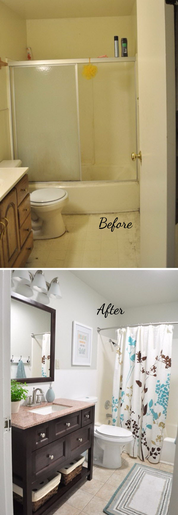 33 Inspirational Small Bathroom Remodel Before and After ... on Small Bathroom Renovation  id=63590