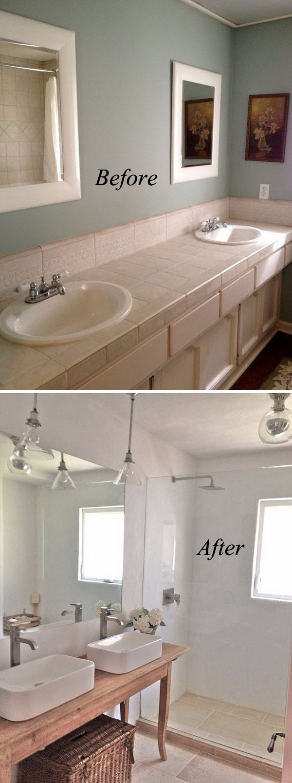 Clean And Crisp Small Bathroom Renovation Before After