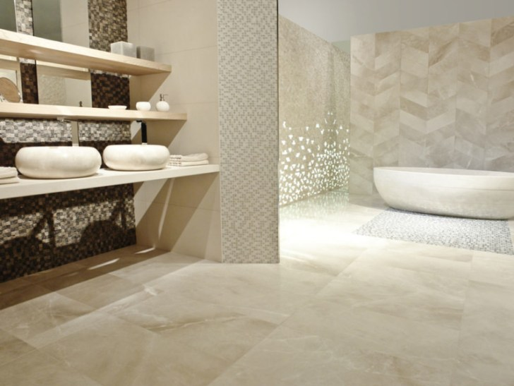 Glamorous Decor Spa Bathroom Design