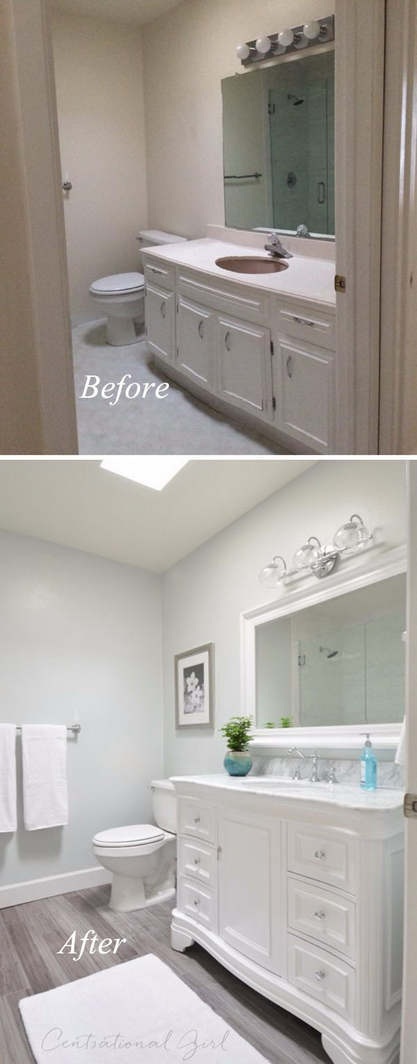 33 Inspirational Small Bathroom Remodel Before and After ... on Small Bathroom Remodel  id=33543