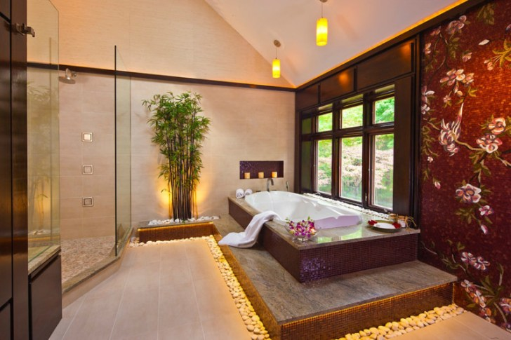 Peaceful Spa Bathroom Design