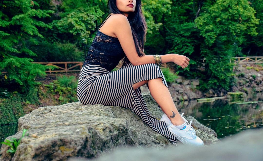 black top maxi skirt