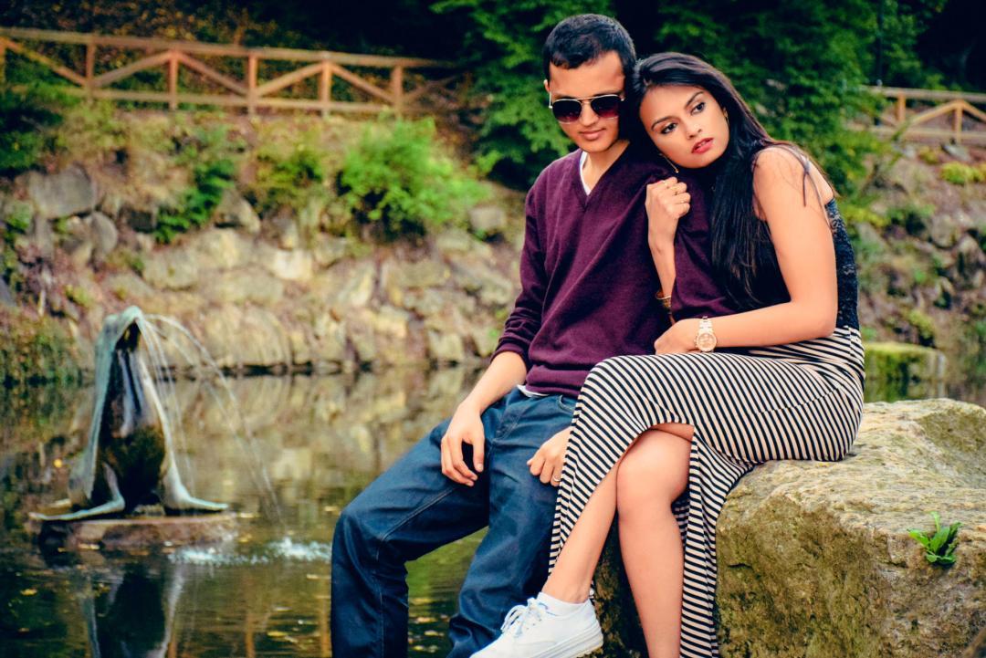 couple in letna park
