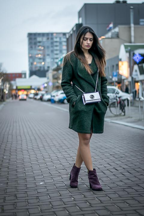 Dark December : Woolen Vest And Bordeaux Boots