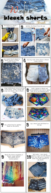 10 Ways to Bleach/Fade/Dye Shorts