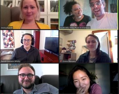 shred's steering committee, in a zoom meeting