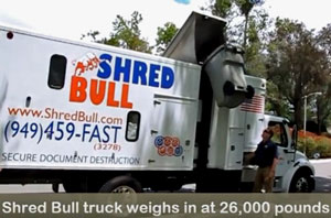 Shred Bull Mobile Shredding Truck