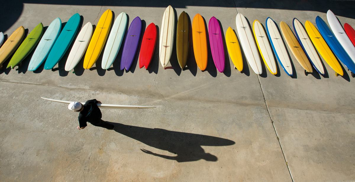 Skip Frye Quiver in The Surfer's Journal