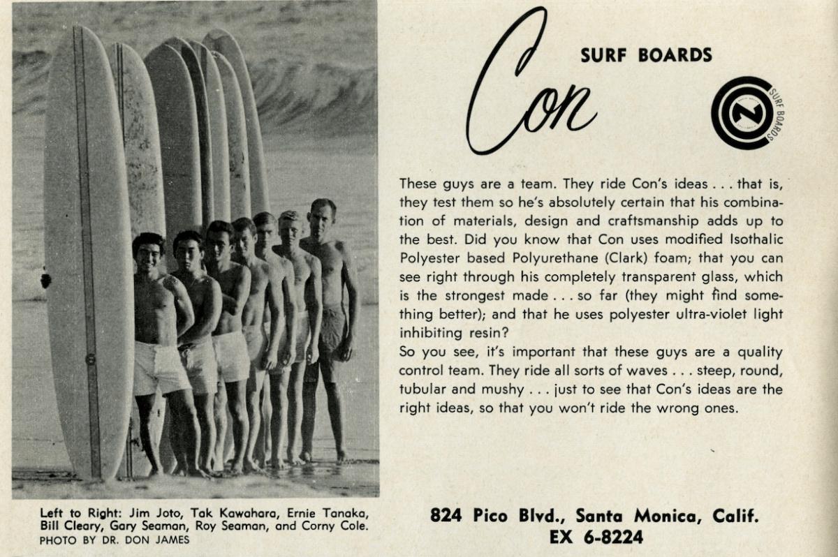 Vintage Con Surfboards Ad: Sagas of Shred