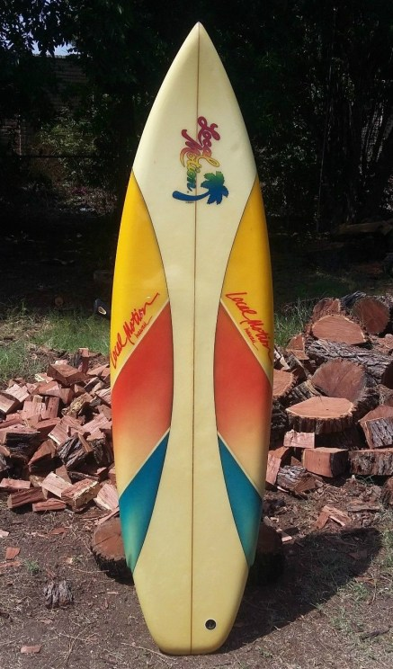 Eighties Local Motion Surfboards Greg Griffin Thruster 2