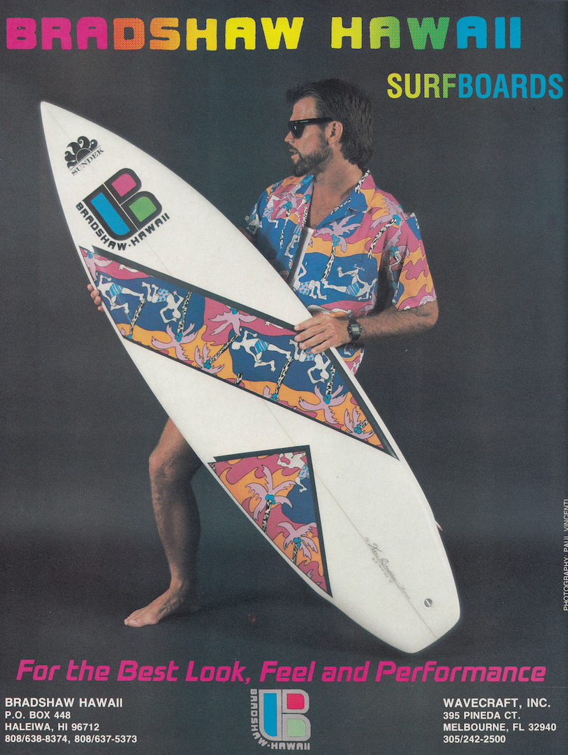 Bradshaw Hawaii Surfboards Ad: Sagas of Shred