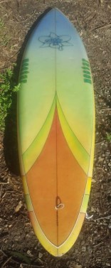 Nectar Surfboards Seventies Single Fin Deck
