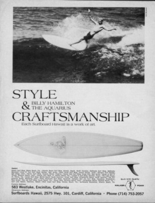 Surfboards Hawaii Aquarius Billy Hamilton via Swaylocks