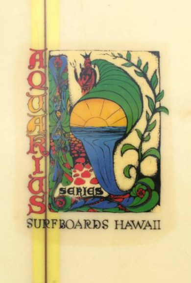 Surfboards Hawaii Aquarius Model Logo