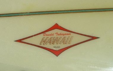 Jacobs Surfboards Donald Takayama Hawaii Model 1968 8'6 2
