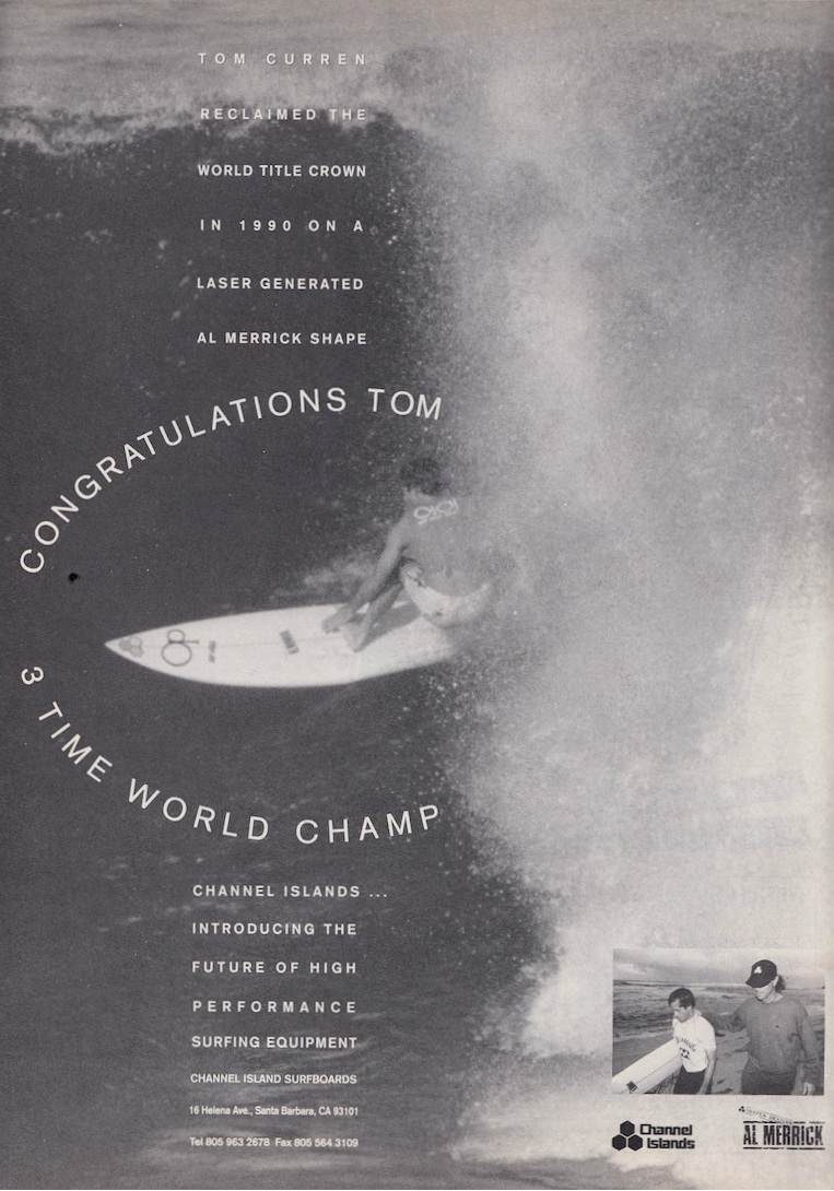 Tom Curren Channel Islands Ad