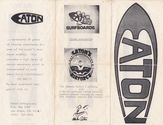 Mike Eaton Surfboards Brochure 1