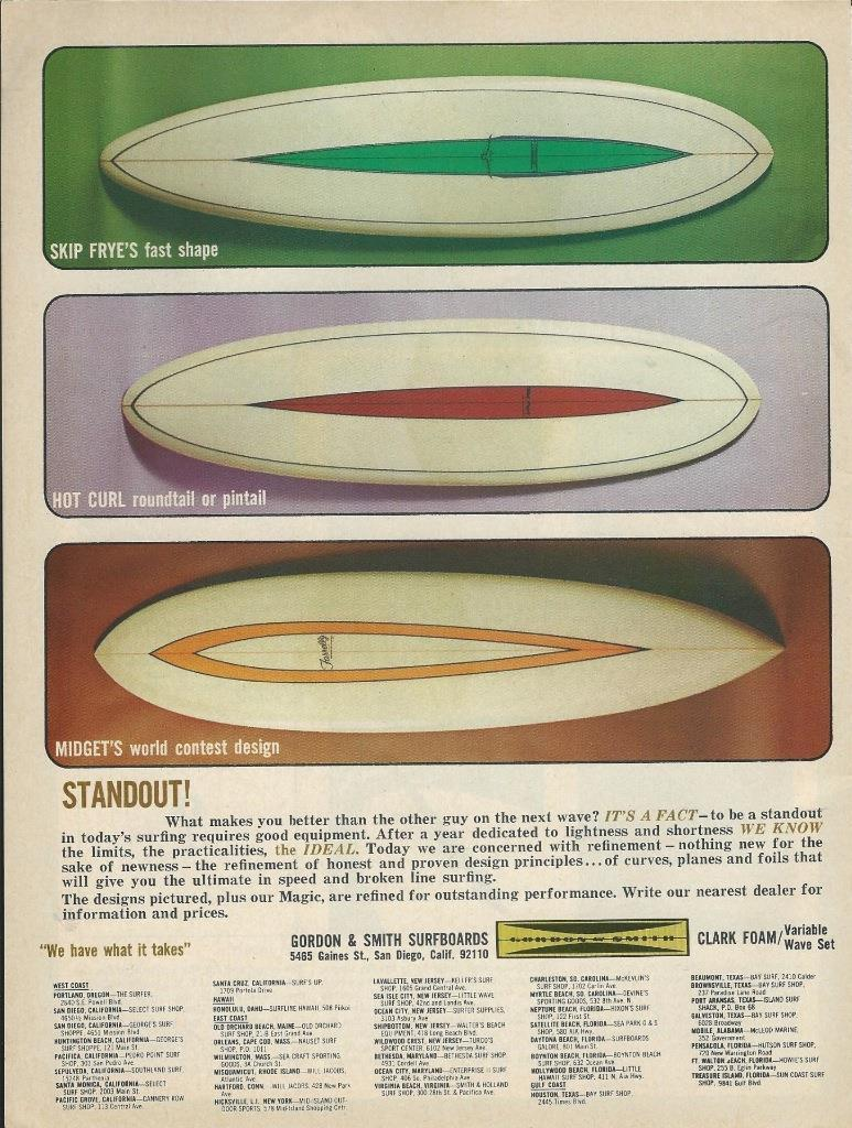Vintage Gordon & Smith Surfboards Ad: Sagas of Shred