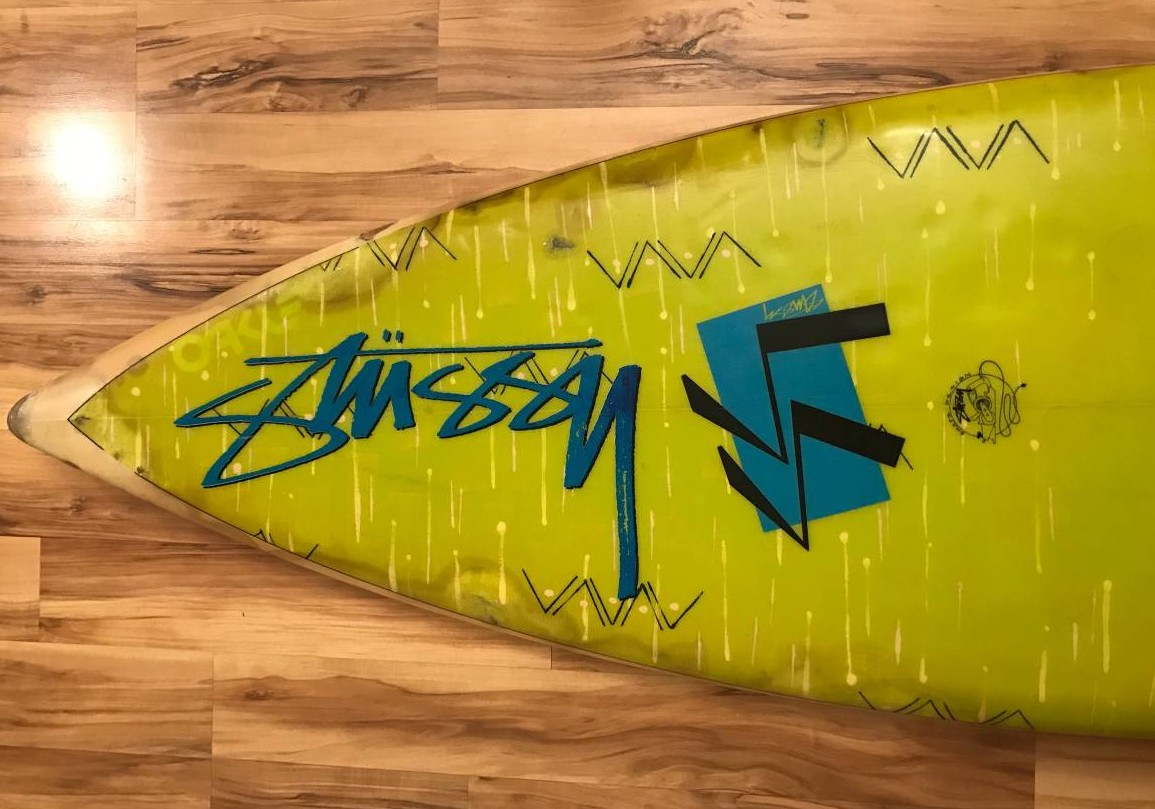 Weekend Grab Bag: Airbrush Aficionado Edition, featuring 80s Stussy Surfboard and More