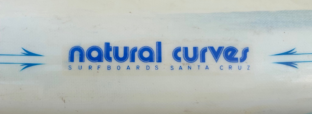 Vintage Steve Coletta Natural Curves Surfboards Single Fin