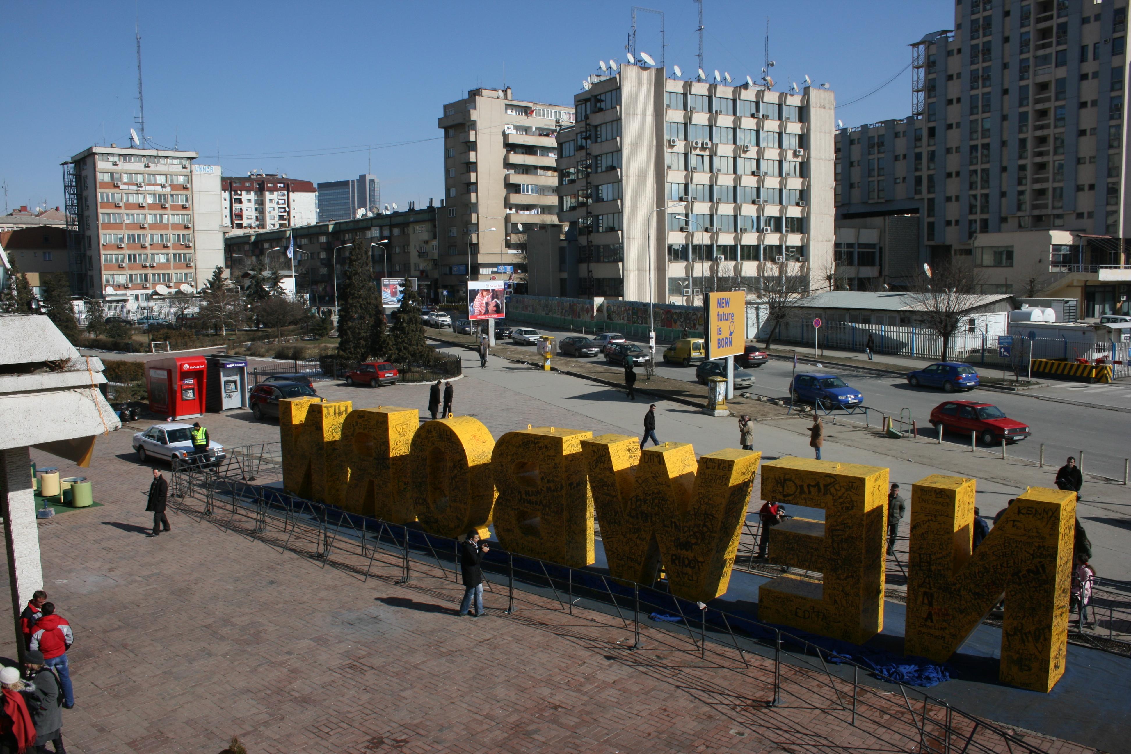 The scenic landscape of Pristina