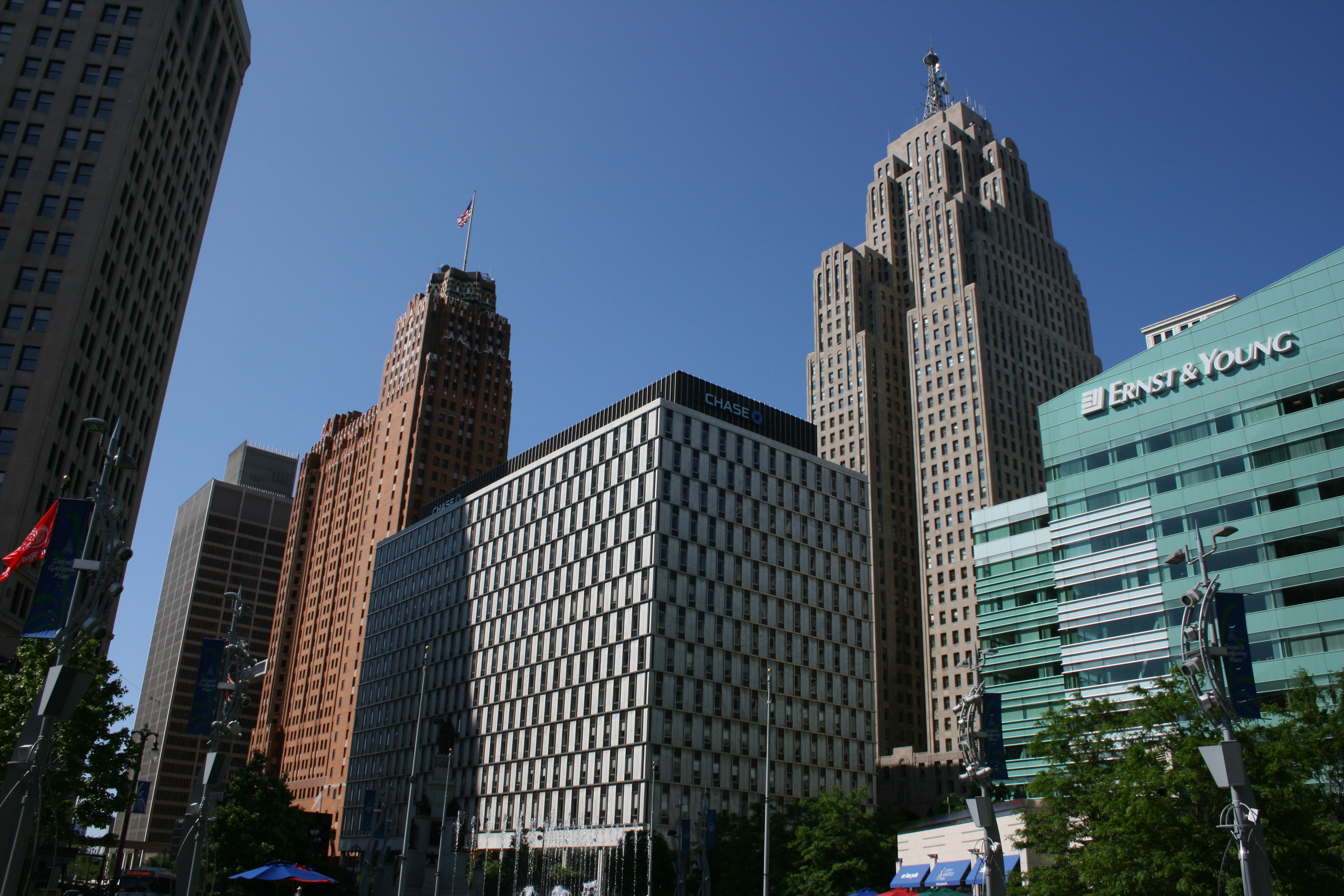 Downtown from Campus Martius