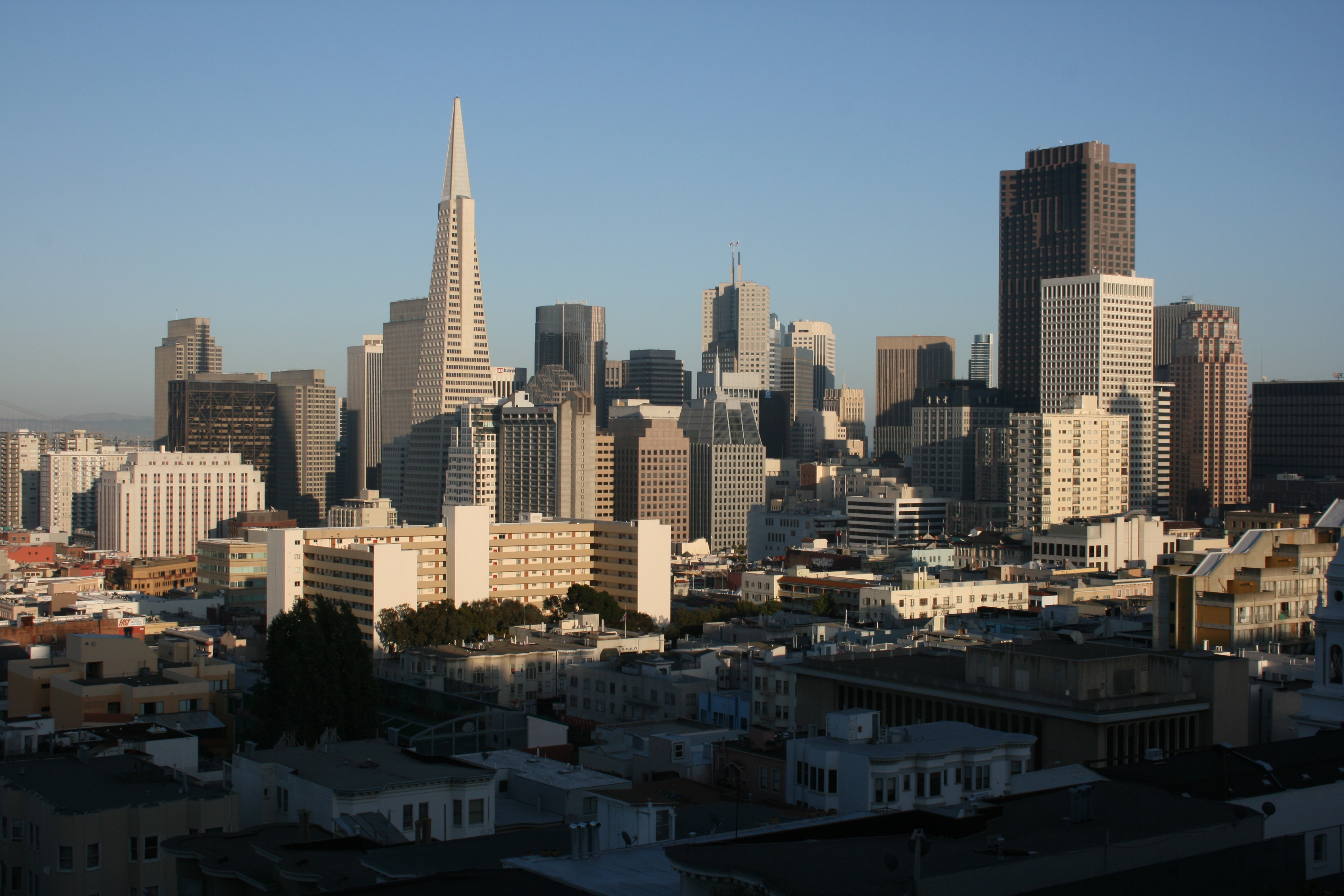 Downtown from Russian Hill, a bit nicer part of town.