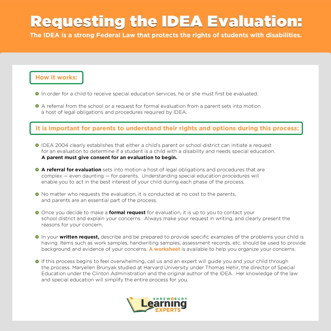 Sample letter requesting evaluation for learning disability idea evaluation request sample letter special education consulting advocacy shrewsbury learning experts spiritdancerdesigns Image collections