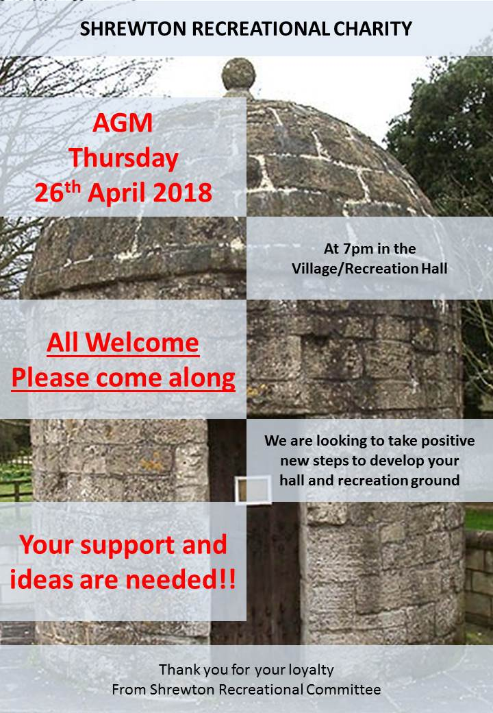 Shrewton AGM 26 Apr 18