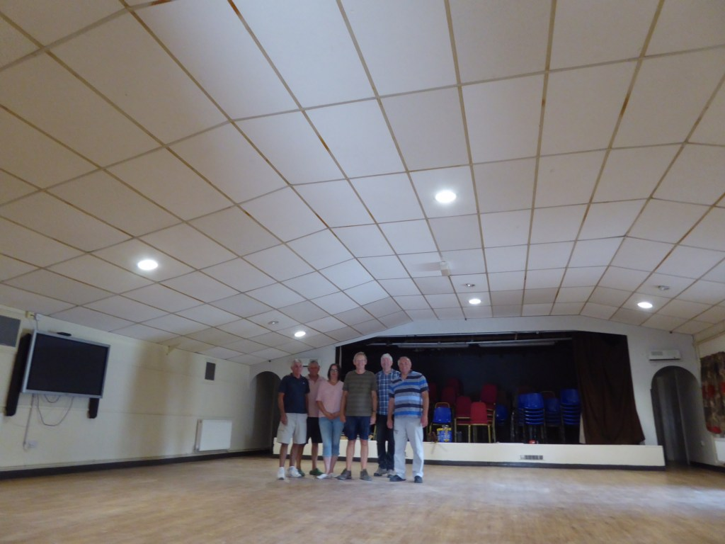 village hall ceiling tiles after